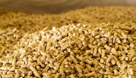 Réserve de granulés de bois ou pellets