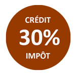Logo crédit d'impôt de 30% (CITE)